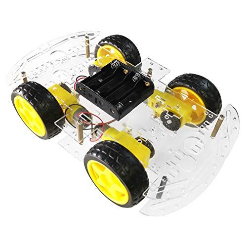 The perseids Roboter Bausatz, Arduino Smart Robot Car Kit, Intelligente Auto Roboter Chassis mit Geschwindigkeit Kodierer 1: 48 für Erwachsene und Kinder(4 WD) (MEHRWEG)