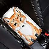 Amzbeauty Funda universal para reposabrazos de consola central, diseño de zorro, para asiento de coche, protector...