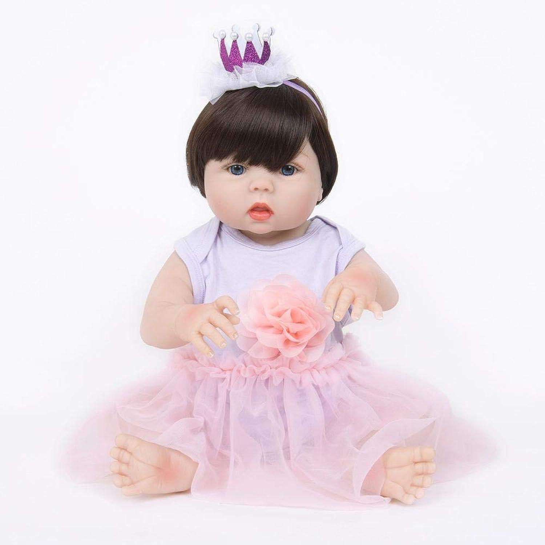 Hongge Reborn Baby Doll,Silikon Wiedergeburt Puppe Spielzeug Mädchen Geburtstag Geschenk Set Bad Spielen Haus Spielen 55cm B07HD8H23R Lebhaft  | Ein Gleichgewicht zwischen Zähigkeit und Härte