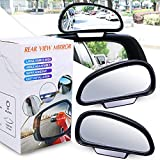 YnGia Blind Spot Mirrors-Fits Car Mirror Frame Thickness Less than 5MM ONLY- Adjustable Car Auxiliary Wide Angle Side Rearview Mirror for Cars SUV (Left+Right)