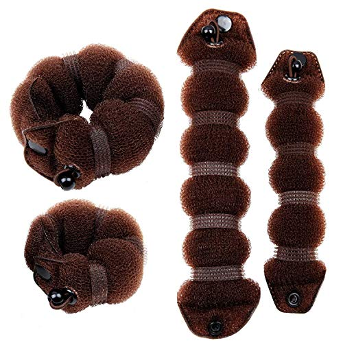 JYtop® - Moños mágicos, 2 piezas, con anilla para regirar, marrón