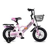 HUAQINEI Bicicletas para niños Plegables, tamaños de 12 Pulgadas, 14 Pulgadas, 16 Pulgadas, 18 Pulgadas, 3 Colores, con estabilizadores, Guardabarros y Soportes