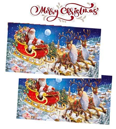 Windel Adventskalender Maxi Warten auf Weihnachten mit Milchschokoladencreme gefüllt mit Milchcreme - 2 x 240 Gramm
