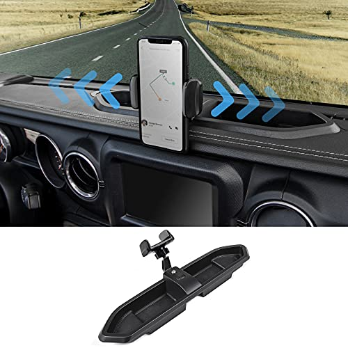 SQQP JL Multi-Mount Dash Phone Holder, Phone Mount Stoage Tray Cellphone System Kit fits for...