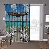 YUAZHOQI - Cortinas correderas para puerta de patio, viajes, hamacas, 100 x 96 pulgadas, cortinas oscurecedoras para habitación (1 panel)