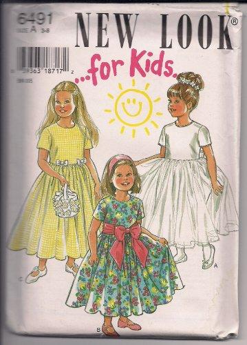 New Look 6491 – para niños – ocasión especial Pascua Flowergirl Modesto, vestido con faja tamaño A 3 – 8 ✅