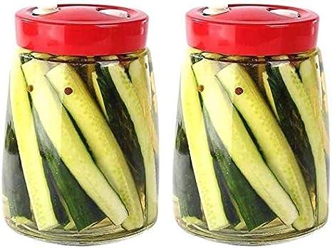 almacenamiento de alimentos Envases para Alimentos Tarro De Almacenamiento Frascos Botes Sello Del Almacenaje, Tarro De Cristal Transparente De La Botella De Miel Mermelada De Frutas Con La Tapa Del F
