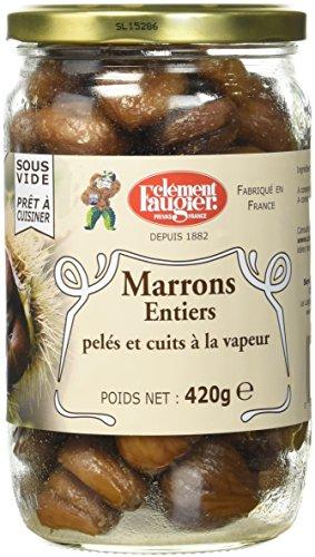 Clément Faugier - Marrons Entiers pelés et cuits à la vapeur - 420g - Lot de 2
