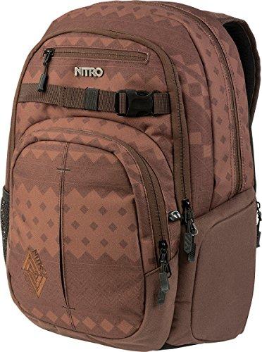 Nitro Chase Rucksack, Schulrucksack mit Organizer, Schoolbag, Daypack mit 17 Zoll Laptopfach, Northern Patch, 35L