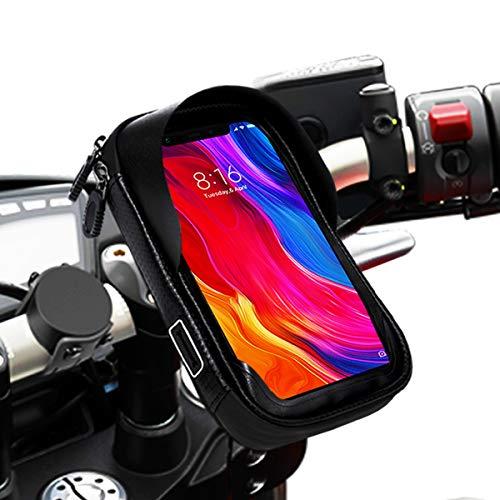 Soporte movil Moto Bicicleta Bici Impermeable Funda Compatible con Smartphones de hasta 6.9' Soporte móvil Moto Soporte movil para Moto Soporte para movil Bicicleta Bici