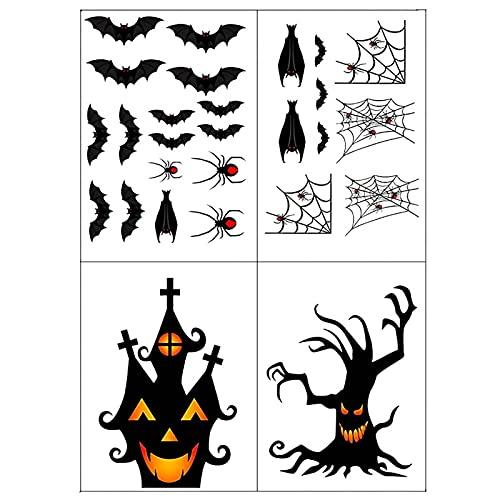 tulipes Pegatinas de Ventana de Halloween, murciélagos de Disfraces de habitación Infantil, Fantasmas, Pegatinas de araña y Decoraciones de Halloween Custody