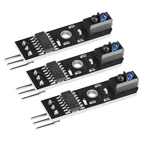 Cosiki Sensor de Infrarrojos, Detector de Infrarrojos Inteligente de 1 Canal, Coche Inteligente de 3 Piezas de 5 V para máquina de fax Detección de Papel Detección de líneas en Blanco y Negro