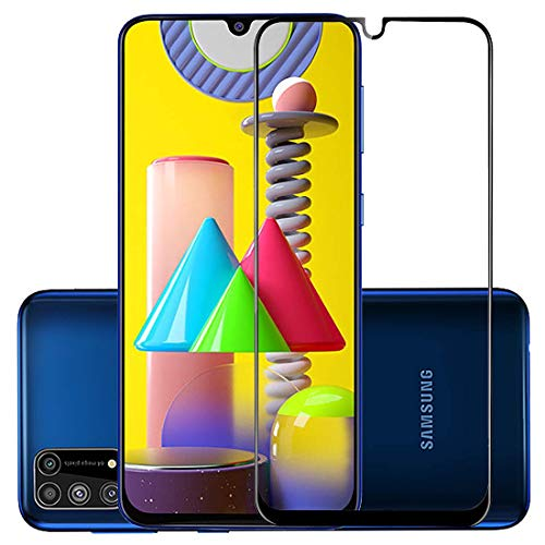 JUMP START Full HD Display Fit OG; Easy Install Mobile Tempered Glass Screen Protector Specially Designed for Samsung Galaxy M31/M21