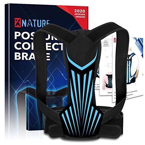 XNATURE Haltungskorrektur, Upgrade Version Geradehalter Rücken Haltungstrainer /einstellbarer verdeckter Rückenverlängerer/Schultergurt Haltungskorrektor für Männer und Frauen, Rückenstabilisator