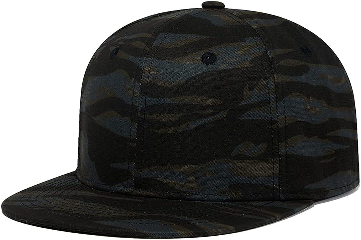 Quanhaigou Classic Snapback Hat Hip Hop Flat Bill Visor Cap - Unisex Adult Adjustable Baseball Hats