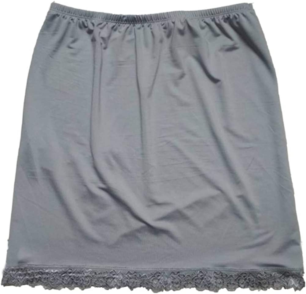 Jixianfeng Women Satin Seattle Mall Half Underskirt Under Petticoat Dres Slip Max 78% OFF