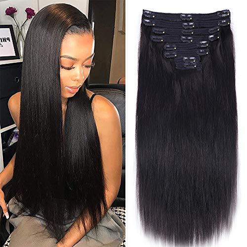 Nvnvdij Straight Clip in Hair Exten…