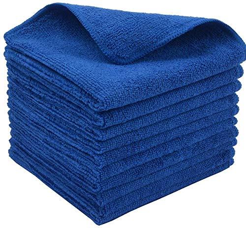 LIRITE microvezel reinigingsdoeken Lint gratis doeken voor het polijsten wassen afstoffen reinigingsaccessoires keuken stofzuigers auto badkamer blauw pak van 10 30 cm x 30 cm