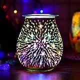 YChoice365 Firework Aroma Lamp, 3d Electric Wax Melt Burner with Firework Effect Night
