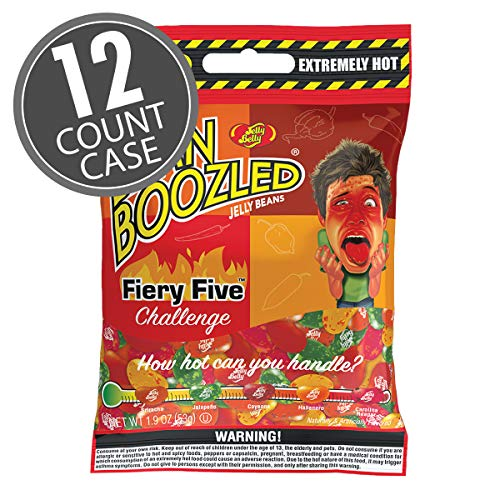 Jelly Belly Fiery Five Bag - 1.9 oz - 12 count case - Genuine, Official, Straight from the Source