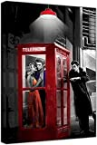 fjsdlk leinwandmalerei Poster Rotes Telefon auf Leinwand