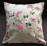Sofakissen/Zierkissen Pink Roses, Frühling, Dekokissen, Landhaus-Stil