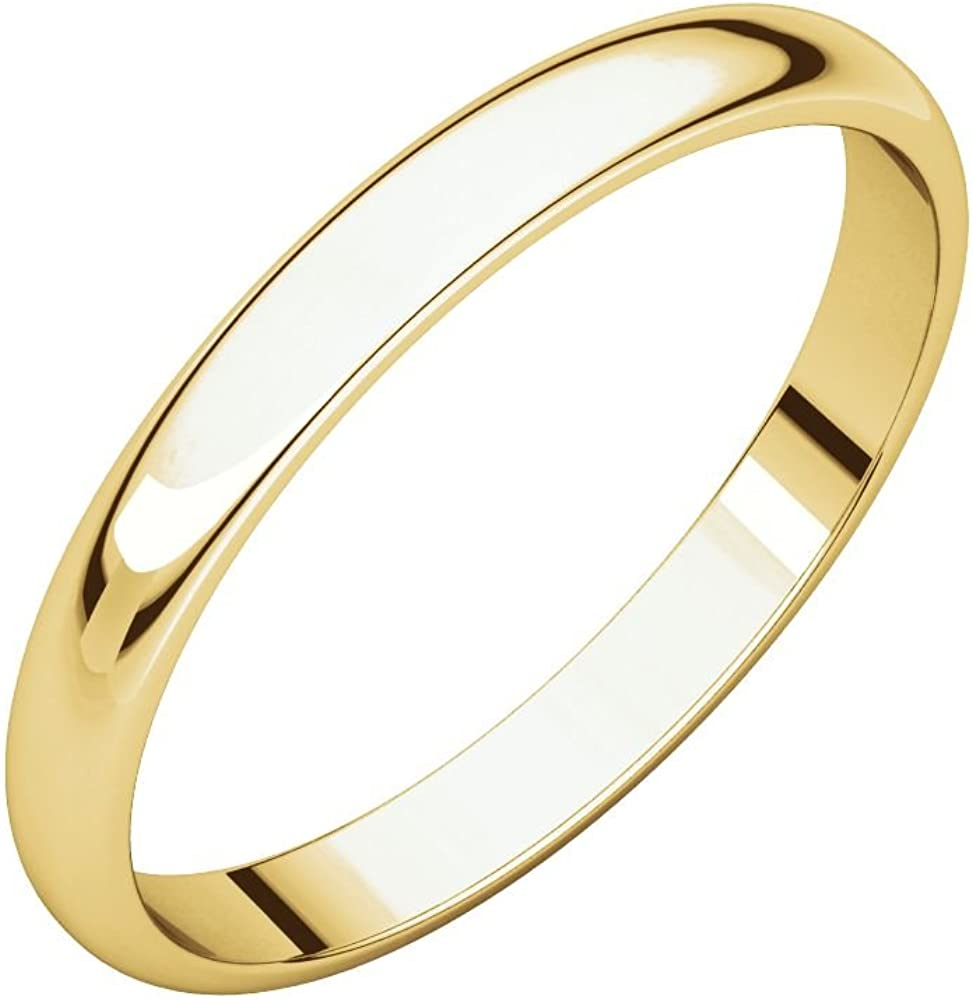 14K Solid Yellow Gold 2.5MM Wedding Ring- Perfect Band Cheap mail order shopping for New life weddi