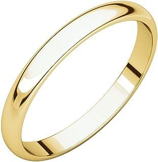 خاتم زفاف من الذهب عيار 14 قيراط من بوري جويليرز - 2.3 مم - 5 مم - متوفر بألوان متعددة ومقاسات الخواتم