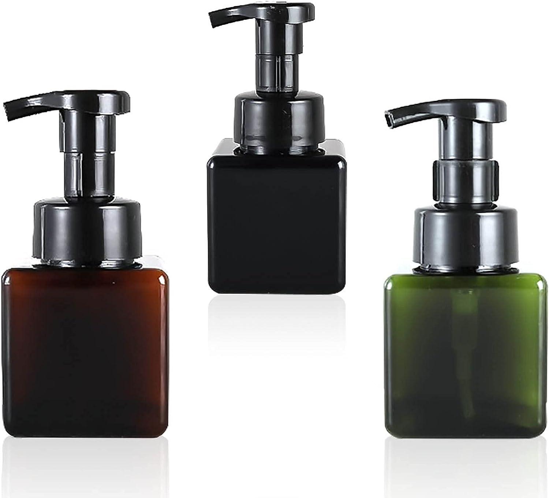Kytpyi Botella de Bomba Viaje,250ml Botes con dispensador Pump Bottle foaming Bottle Botellas de Bomba de plástico para Almacenamiento en Espuma de Emulsion Hand Washing Liquid Soap ( 3 Piezas )
