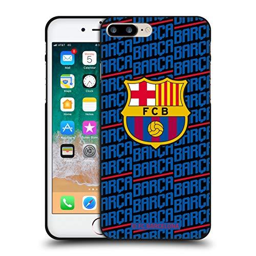 Head Case Designs Oficial FC Barcelona Barca Crest Patterns Funda de Gel Negro Compatible con Apple iPhone 7 Plus/iPhone 8 Plus