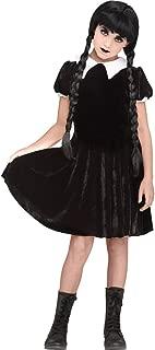 Gothic Girl Child Wednesday Addams Costume