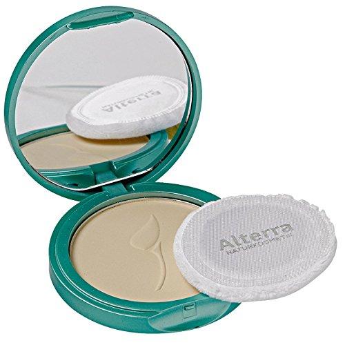 Alterra Kompaktpuder 10 g Farbe 01: Light, mit Bio-Granatapfelsamenextrakt & Bio-Jojobaöl, abdeckend, zertifizierte Naturkosmetik, vegan