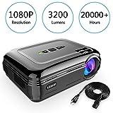 Vidéoprojecteur, LESHP HD 1080P HD 3300 Lumens LED Mini LCD Projecteur de Cinema Thétre Familiale Privé, Projecteur Portable 1080P/USB/VGA/SD/HDMI pour Xbox/iphone/Smartphone/PC (Noir)