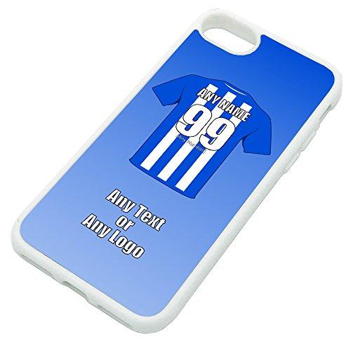 UNIGIFT - Funda para iPhone con diseño de club de fútbol (opciones de color), diseño de Wigan Athletic, TPU, Blanco, iPhone 8