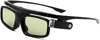 3D Gafas, Recargables Obturador Activo 3D Gafas Universales para Todos los 3D DLP-Link Proyectores Acer BenQ Optoma Viewsonic Philips LG Infocus NEC Jmgo Vivitek Cocar Toumei - Paquete de 1
