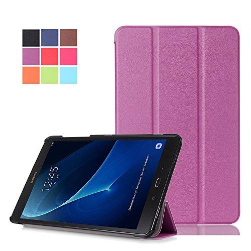 Galaxy Tab A 2016 T585N Hülle,Samsung Tab A 10.1'' Cover - PU Leder Schutzhülle mit Stand Tasche Hülle für Samsung Galaxy Tab A 10.1 Zoll Wi-Fi/LTE (2016) SM-T580N/SM-T585N Tablet Case Cover,Lila