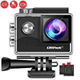 Campark X15 4K Action Camera with Touch Screen EIS Anti-Shake WiFi Waterproof Cam 30m Underwater with Mount Accessory Kits