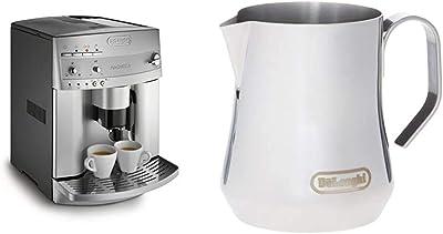 De'Longhi ESAM3300 Super Automatic Espresso/Coffee Machine & DLSC060 Milk Frothing Jug, 12 oz, Stainless Steel