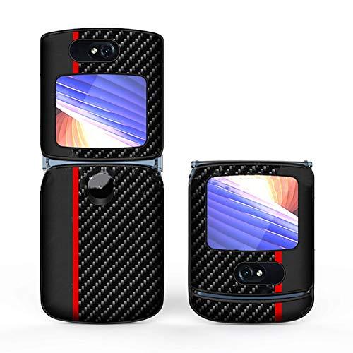 LICHIFIT Dünne Lederhülle für Motorola Moto Razr 5G Stoßfest All-inclusive Flip Klappschutzhülle
