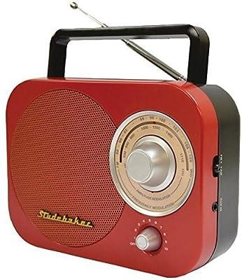 Studebaker Portable AM/FM Radio in Teal STUD-SB2000TE
