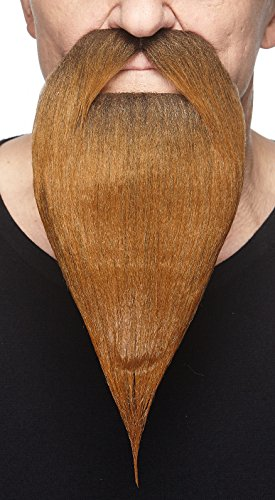 Mustaches Selbstklebende Neuheit Philosopher Fälscher Bart Falsch Gesichtsbehaarung Kostümzubehör für Erwachsene Braun Farbe