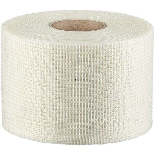 Colorus Gitterband 100 mm x 90 m | Fugendeckstreifen selbstklebend 75g/m² | Glasfaserband, Fugenband für Risse und Löcher | Bewehrungsstreifen für Stoßkantenüberbrückung | Trockenbau