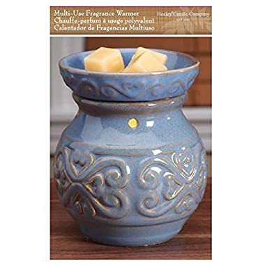 Hosley 6  High Blue Ceramic Electric Warmer. Ideal Gift for Wedding, Spa, Aromatherapy. Use with Brand Wax Melts/Cubes, Essential Oils and Fragrance Oils. O3