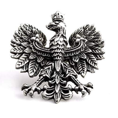 König Design Kettenanhänger Adler Edelstahl Herren | Polen Adler Anhänger Silber