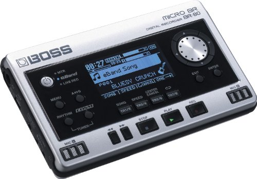 Boss Br-80 Portable Digital Recorder, Argento