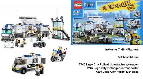 LEGO City 66305 Polizei Superpack 7743 / 7245 / 7235