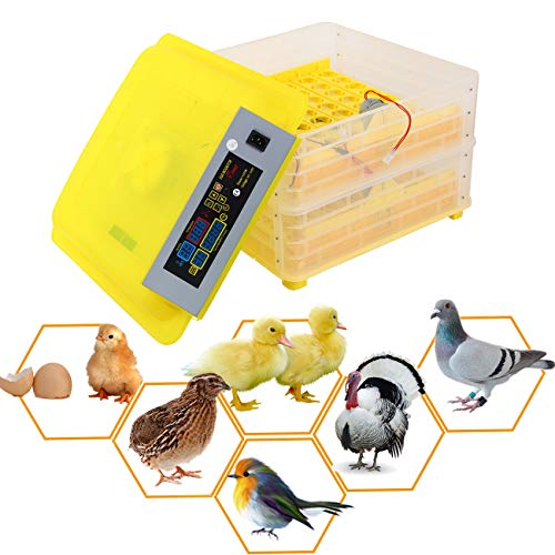 XuanYue Egg Incubator Automatic 112 Egg Digital Incubators, Turning Chicken Built-in LED Light Hatching Eggs Hatcher for Chicken Ducks Goose Poultry Pigeon Quail
