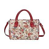 Signare Tapiz bolso grande mujer bolsas de viaje bolso de viaje mujer fin de semana con diseño de V&A (prado de flores)