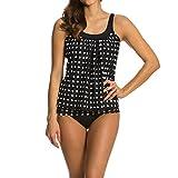 Nuevo 2021 Conjunto de Bikinis Mujer Bikini Sexy Moda Trajes de Baño dos piezas Moda Impresión de lunares Ropa de Playa Cintura alta Push up spa Bikini Tankinis Volante Bañador Beachwear Vacaciones
