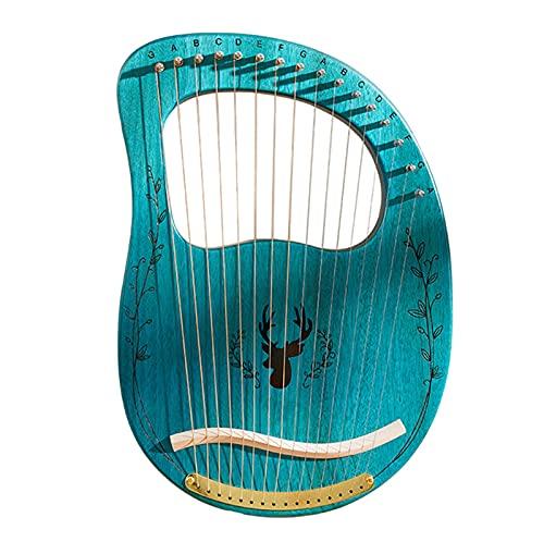 Tyfiner Arpa De Lira 19 Cuerdas Caoba Arpa Pequeña Portátil para Amantes De La Música Principiantes Niños Adultos,001,19 Strings